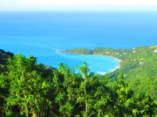 Aerial view from atop Tortola, BVI