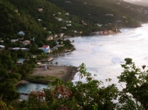 An aerial view of Tortola