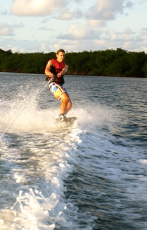 Ryan riding the wake