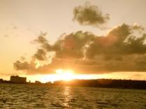 Golden SXM sunset skies
