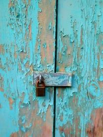 A locked door - BVI rustic chic in Road Town, Tortola