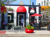 What's black, white and red? This cute little coffee shop in Northwood Village, West Palm, Florida