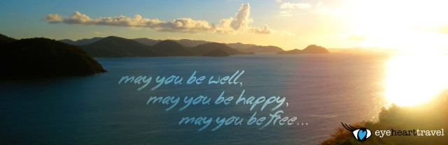 My mantra with a backdrop from Tortola, BVI
