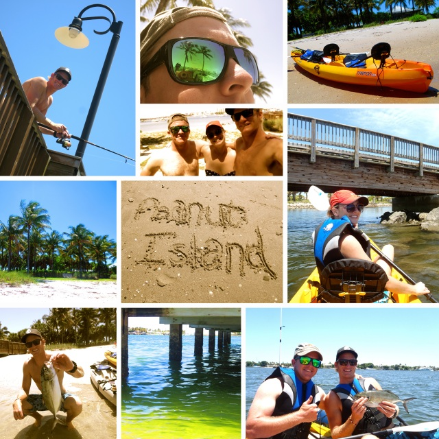 Kayaks, fishing and snorkeling at Peanut Island, West Palm Beach