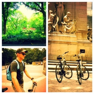 Cycling around Central Park in New York City