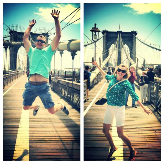 The Art of Jumping photos on Brooklyn Bridge in NYC