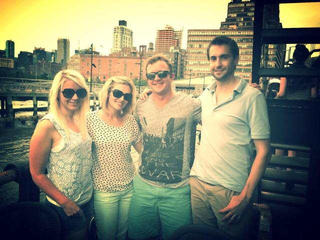 Lulu, Katie, Rich and Pete in Chelsea, NYC