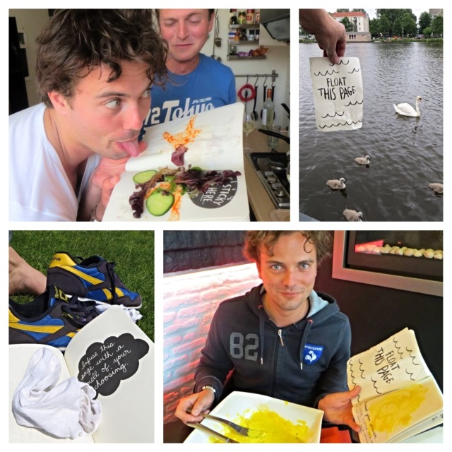 Mike, Fedor and Alex wreck the journal in Amsterdam.