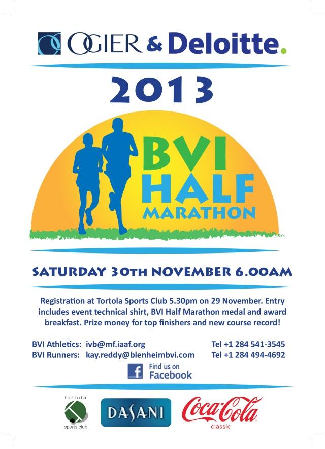 BVI Half Marathon poster design - Katie Wilter