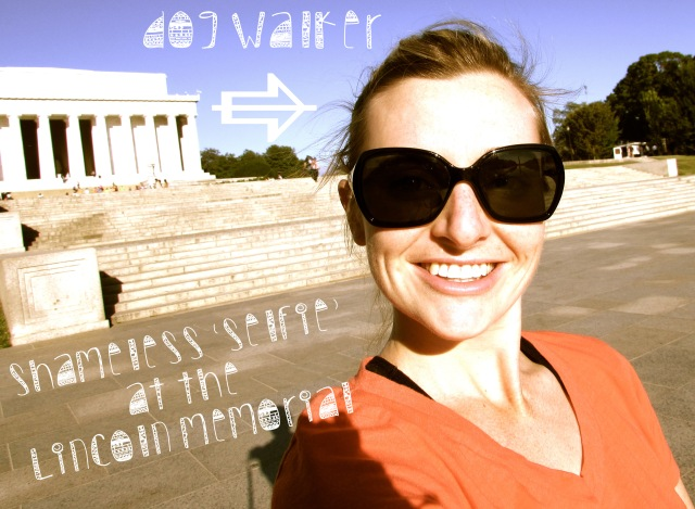 A shameless 'selfie' at the Lincoln Memorial