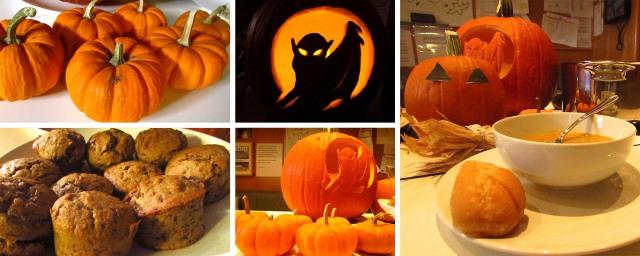 Halloween pumpkins, muffins and soup.
