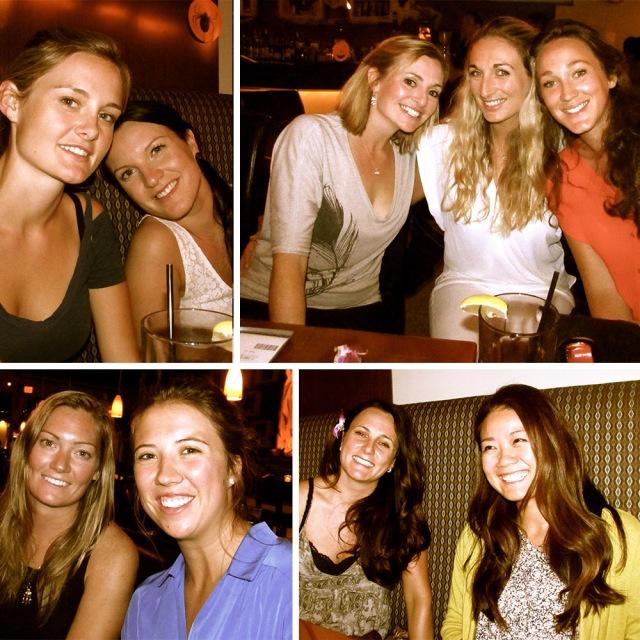 Ladies enjoying great conversation, cuisine and cocktails at Kabuki restaurant