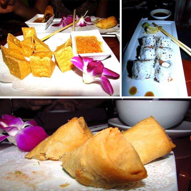 Sushi, Spring rolls and other delish dishes at Kabuki restaurant