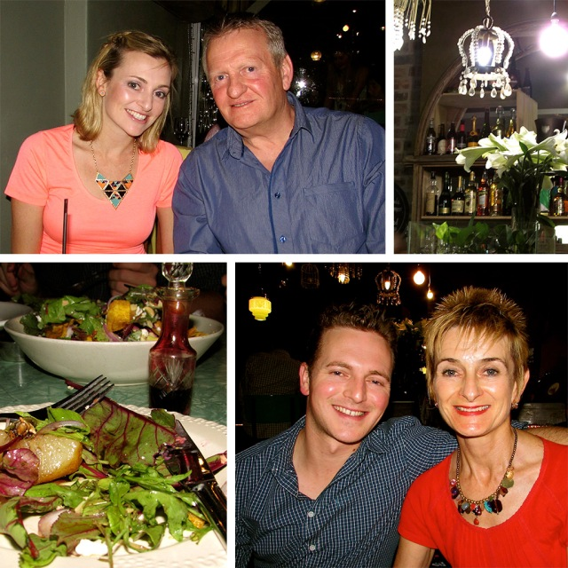 Our first family dinner in a year at the Woodlands Eatery in Cape Town.