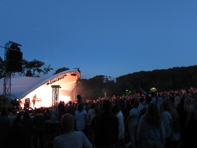 The rain clouds cleared for Bastille's incredible performance at Kirstenbosch Gardens