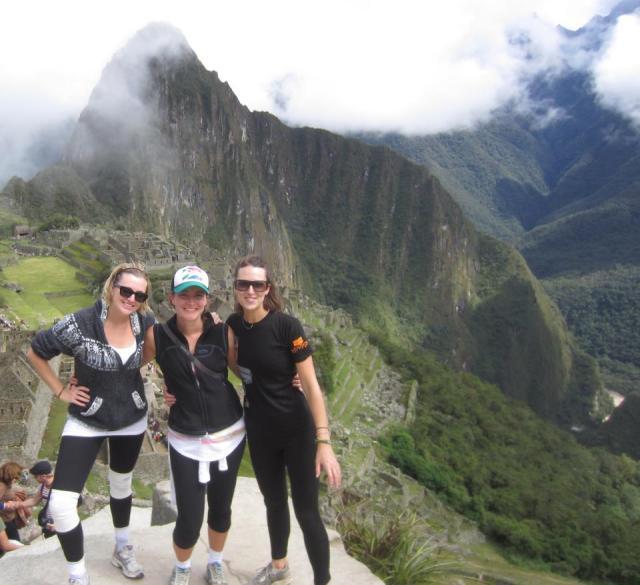 Alex, Lou and I at Machu Picchu