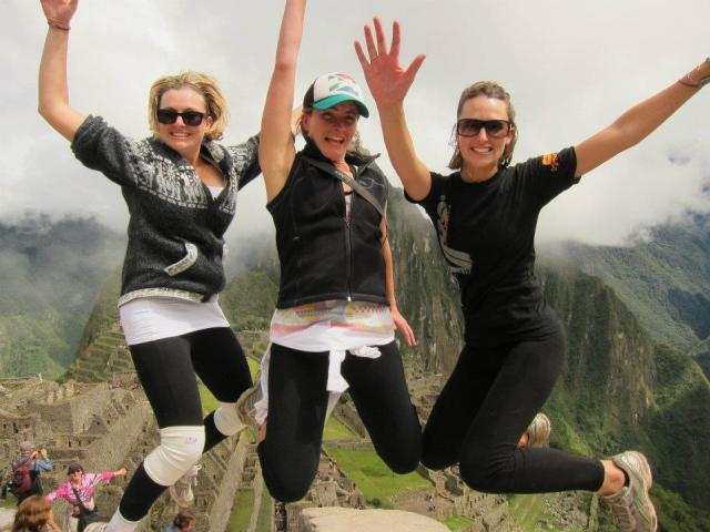 Our jumping photo at Machu Picchu