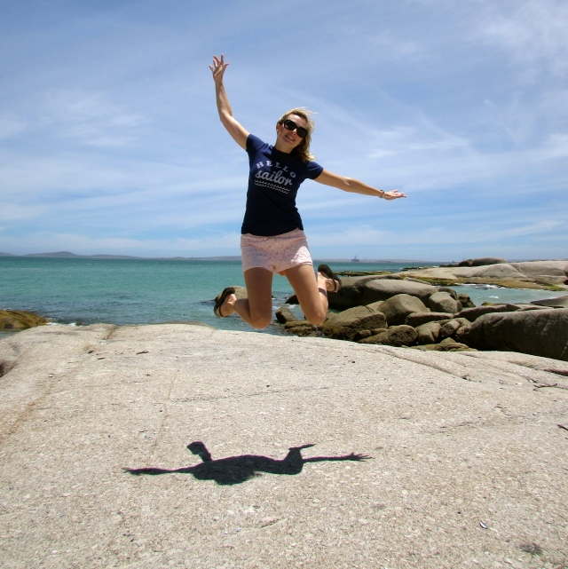 My most recent jumping photo at Die Strandloper in Cape Town, South Africa
