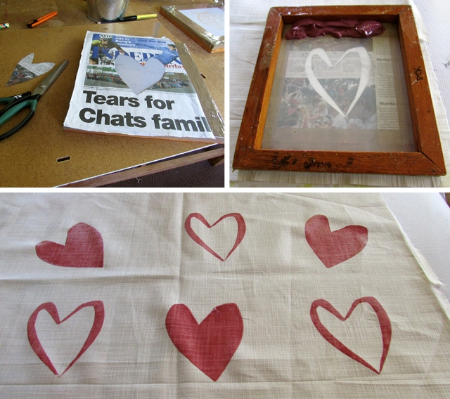 Learning the basics with a newspaper stencil