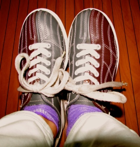 Funky bowling shoes