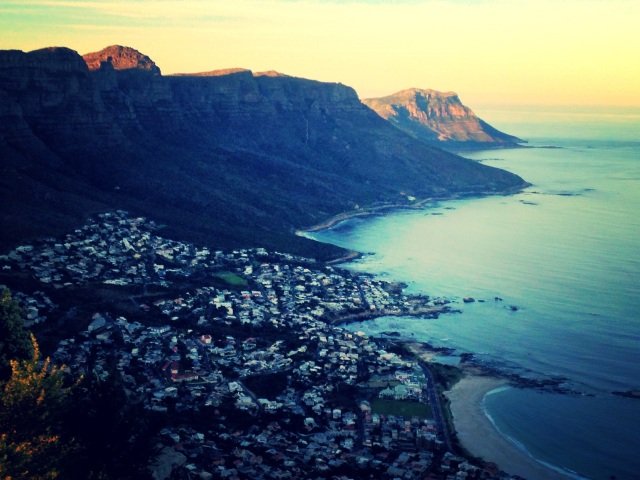 A view of Camps Bay and the Twelve Apostles