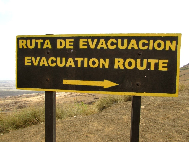 An evacuation route… just in case