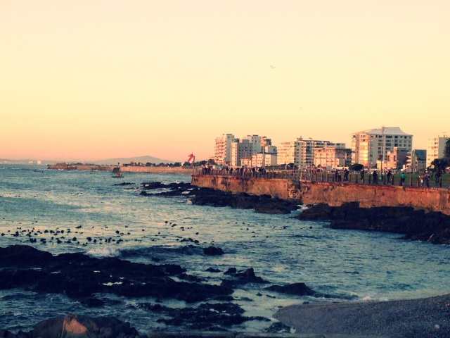A sunset stroll along Sea Point  in Cape Town