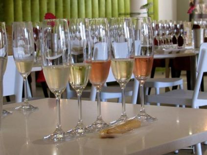 Winetasting at JC Le Roux. Delish bubbles!