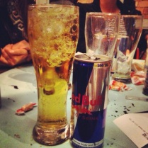 Voda and Red Bull to give us wings