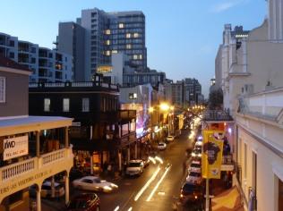 Bustling night activity on Long Street