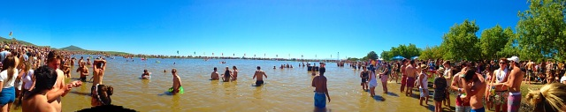 A scorcher at the Cloof Wine Estate Dam at Rocking the Daisies 2014