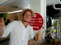 James Kuiper from Sexy Food giving the thumbs up to healthy living