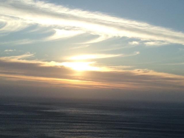 A sunset swirl.