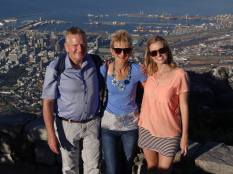 Dad, Mom and I playing tourist on top of Table Mountain