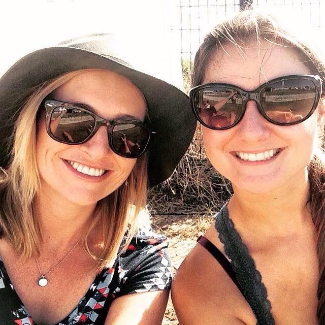 My flatmate Leigh and I in sunny Cape Town.