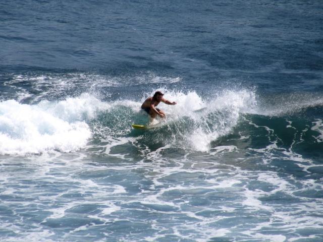 A surfer's dream wave in Uluwatu. Pic credit: Katie Wilter